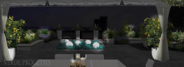 Terrazzo a Savona - di notte