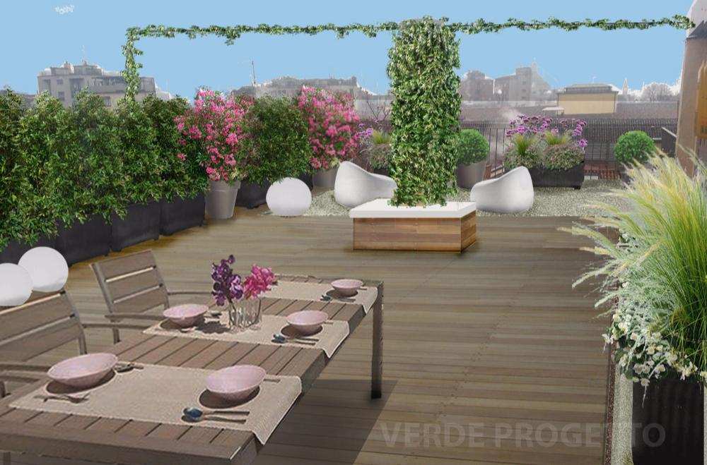 Verde progetto il terrazzo sui cieli di milano - Progettazione terrazzi milano ...