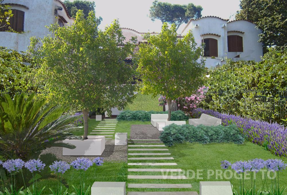Verde progetto il giardino a roma - Progetto di un giardino ...