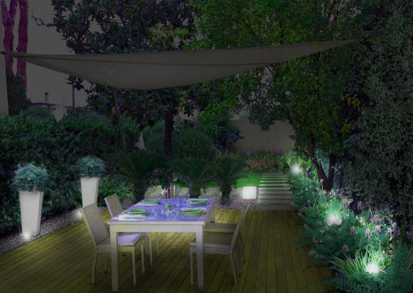 Il progetto del giardino nel Lazio - di notte