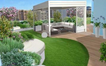 Progetto giardino online galleria progetti giardini - Giardini sui terrazzi ...