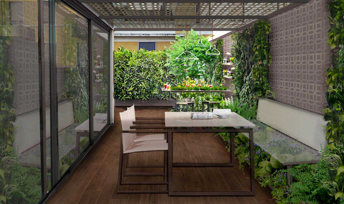 Verde progetto il terrazzo fashion - Progettazione terrazzi milano ...