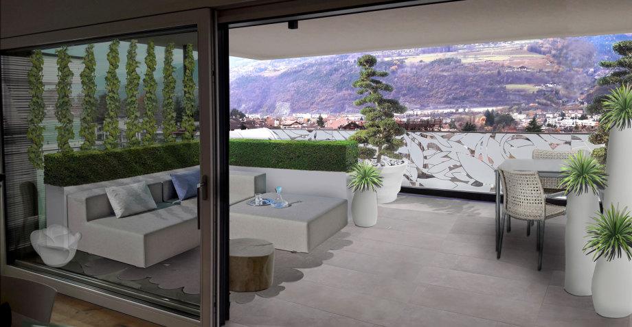 Verde progetto il terrazzo moderno e raffinato for Giardini sui terrazzi