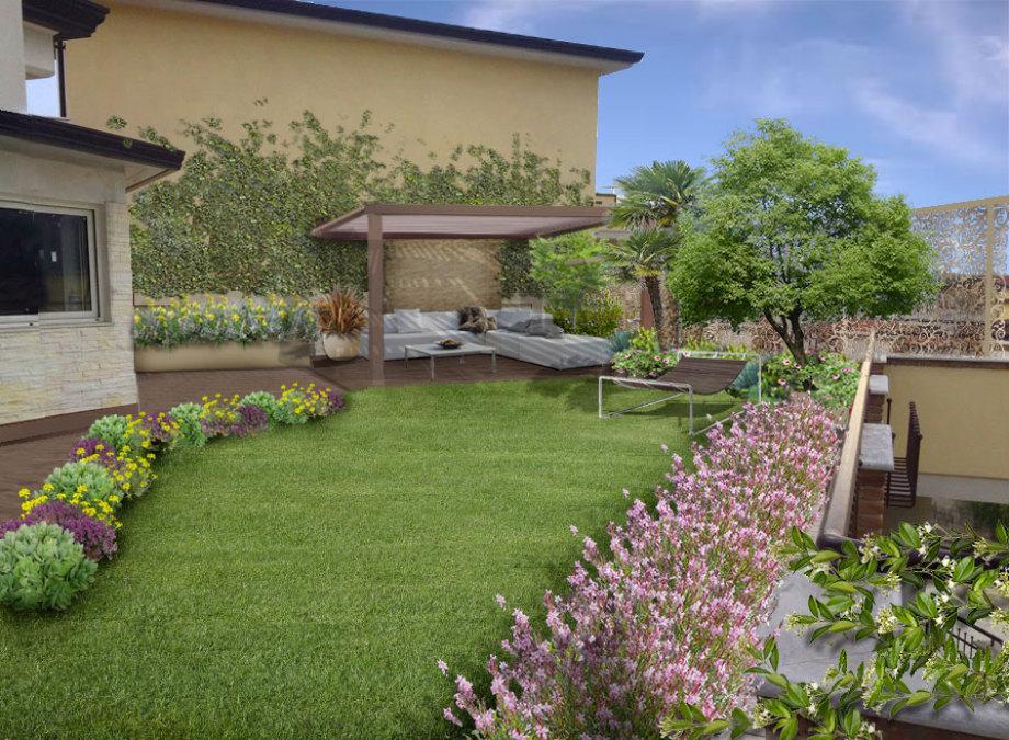 Verde progetto giardini pensili a benevento for Giardino 30 mq progetto