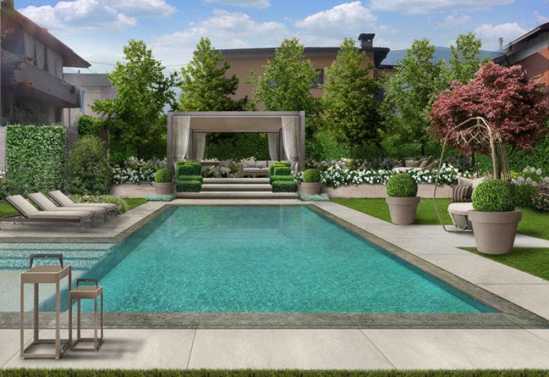Progetto giardino online giardini creativi su misura per te - Progetto villa con piscina ...