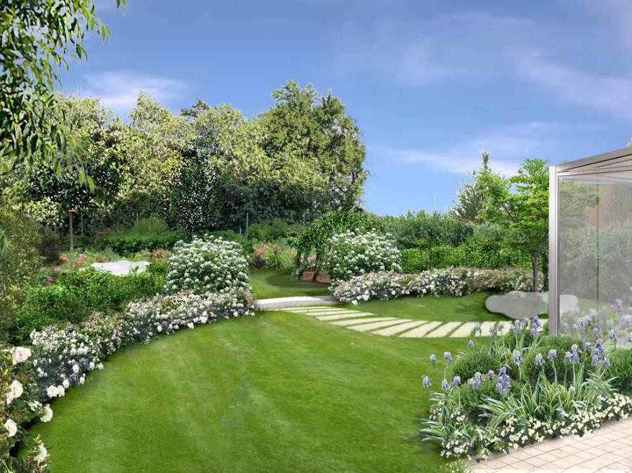Progetti giardini moderni for Foto giardini moderni