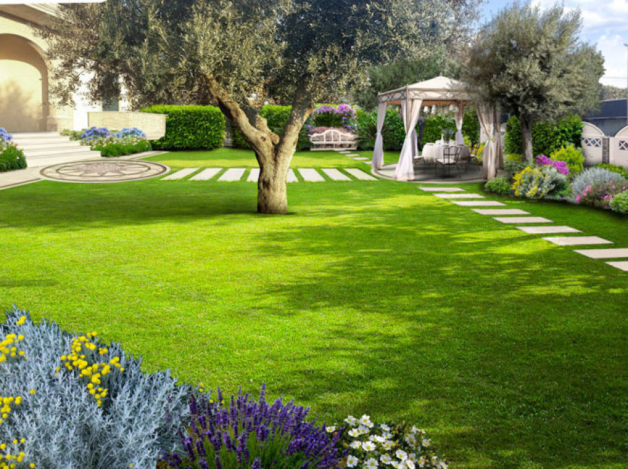 Ville giardini moderni affordable i giardini botanici di for Giardini ville moderne