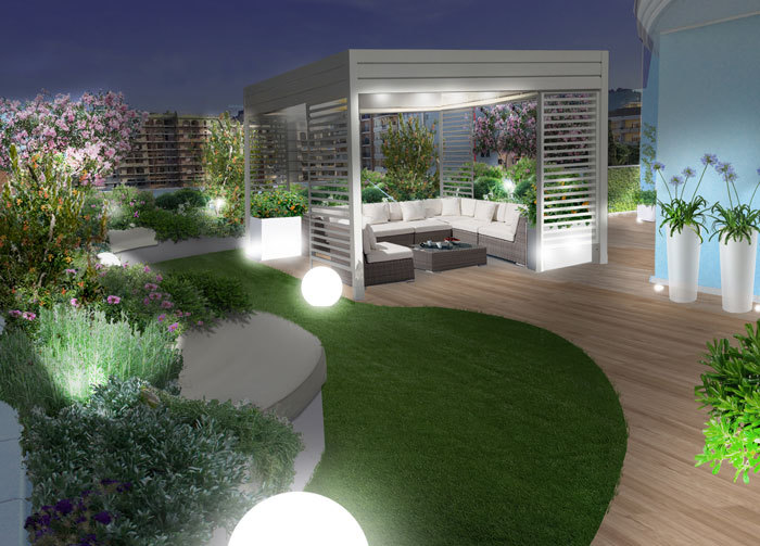 Progetti il giardino pensile a pescara for Mobili per terrazzi e giardini