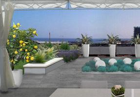 Il terrazzo sui tetti di Savona