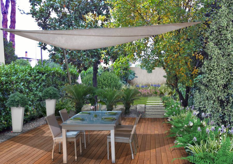 Verde progetto la progettazione di un giardino nel lazio for Architetto giardini roma
