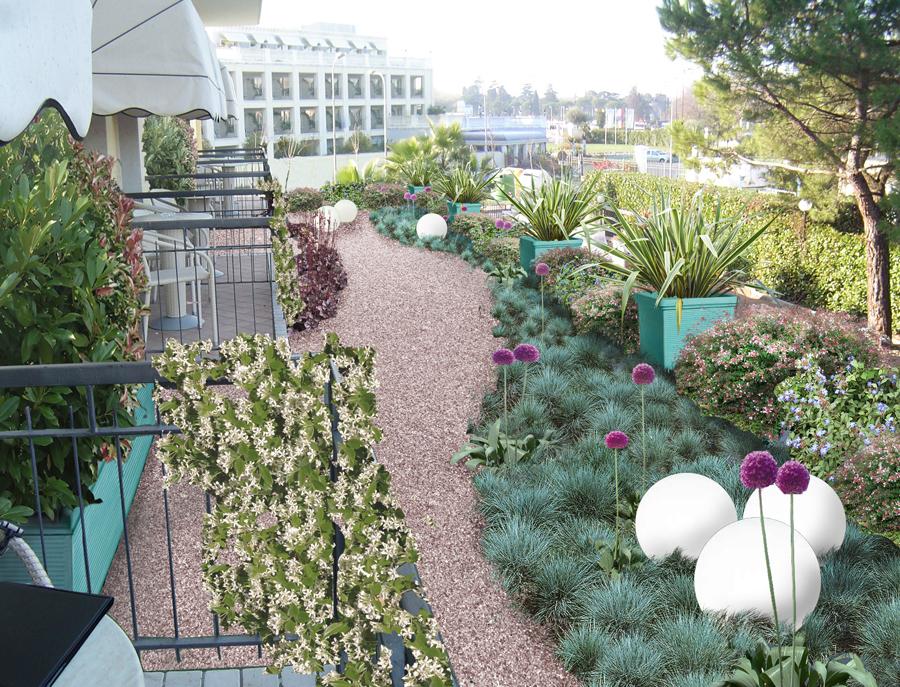 Affordable il giardino pensile sul lago with giardini sui for Giardini sui terrazzi