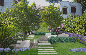 Progetto giardino a Roma