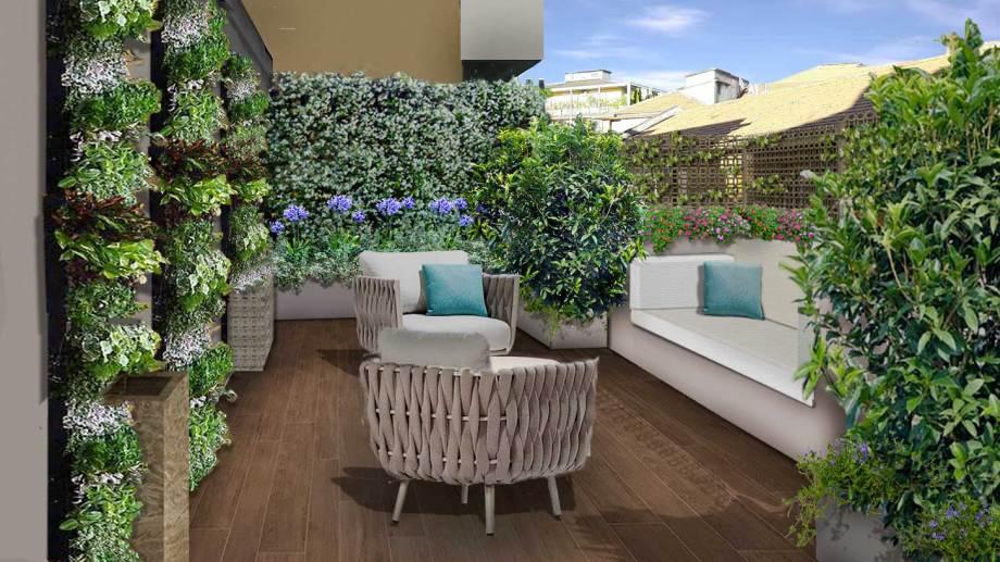 Verde progetto il terrazzo fashion for Giardini sui terrazzi