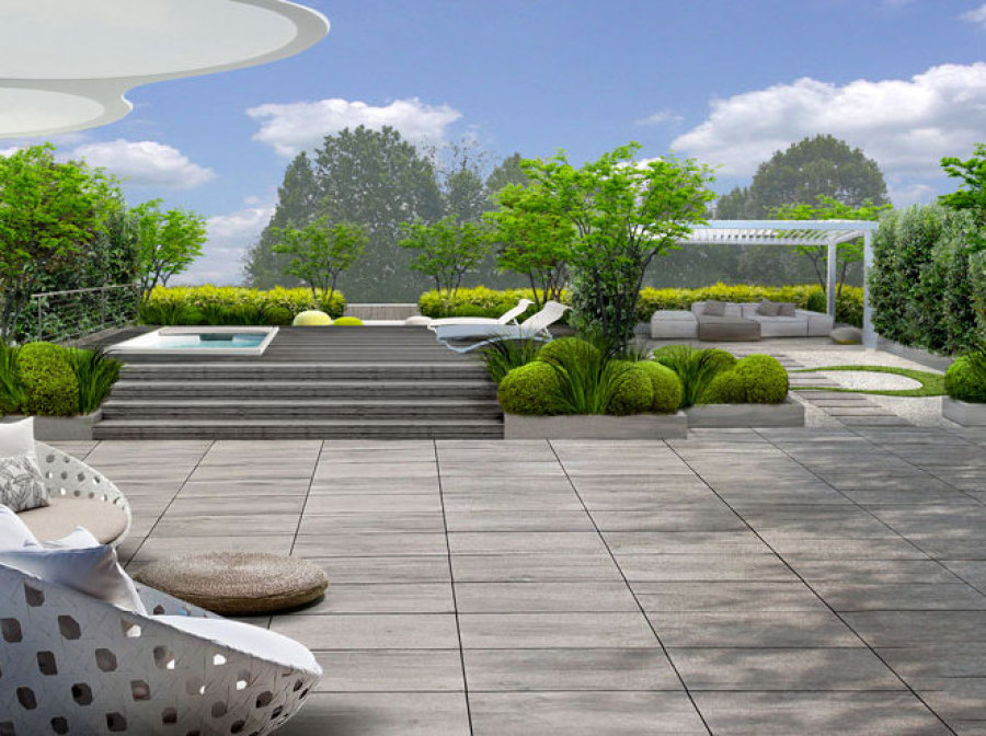 Il terrazzo in stile zen