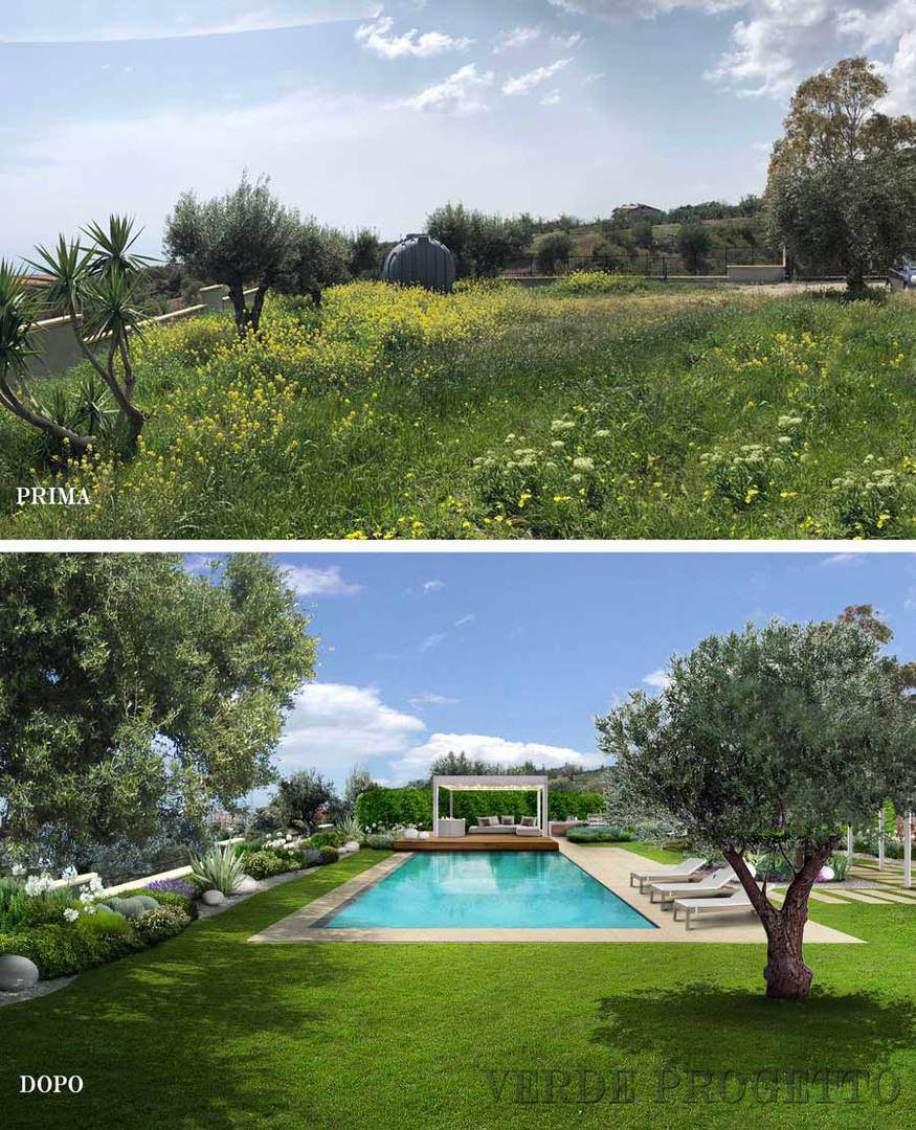 Piante Per Giardini Moderni verde progetto: il giardino mediterraneo con piscina