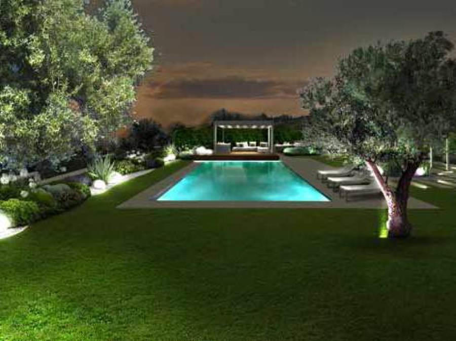 Giardini Moderni Con Piscina : Progetto giardino online galleria progetti giardini