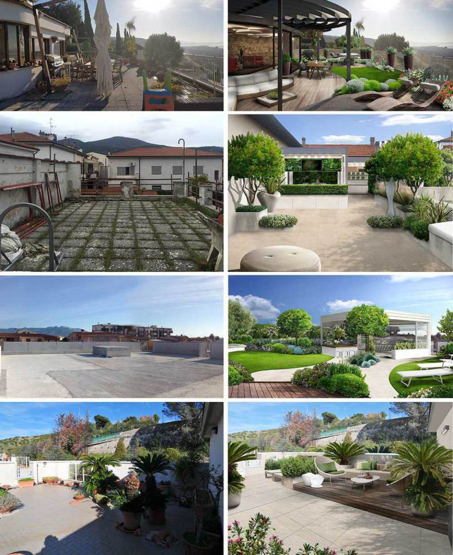 Alcuni esempi di progetti di terrazzi