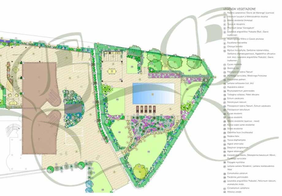progetto giardino con piscina design